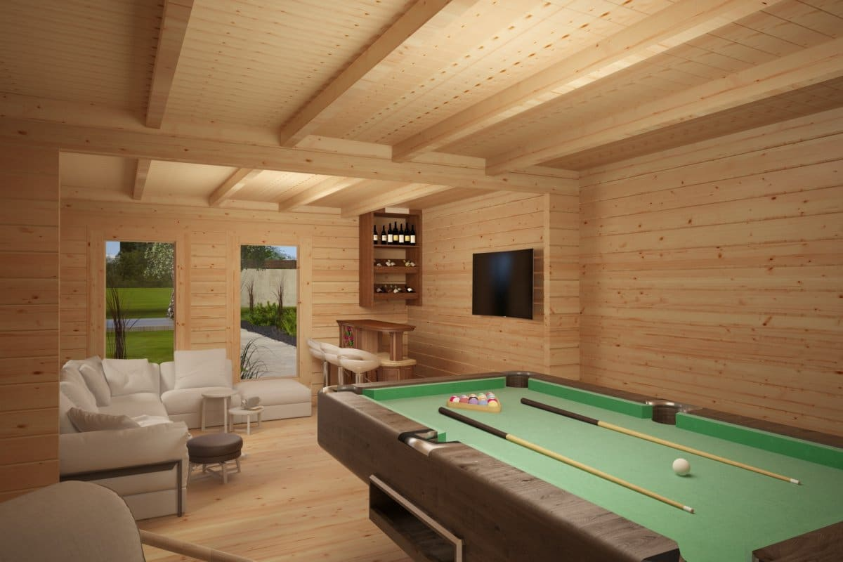 gro es gartenhaus e 26m2 70mm 4x7 hansagarten24. Black Bedroom Furniture Sets. Home Design Ideas