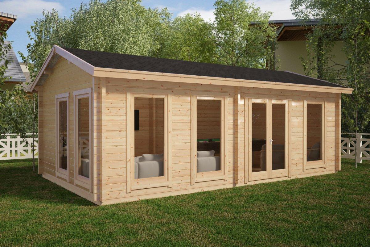gro es gartenhaus f 26m2 70mm 4x7 hansagarten24. Black Bedroom Furniture Sets. Home Design Ideas