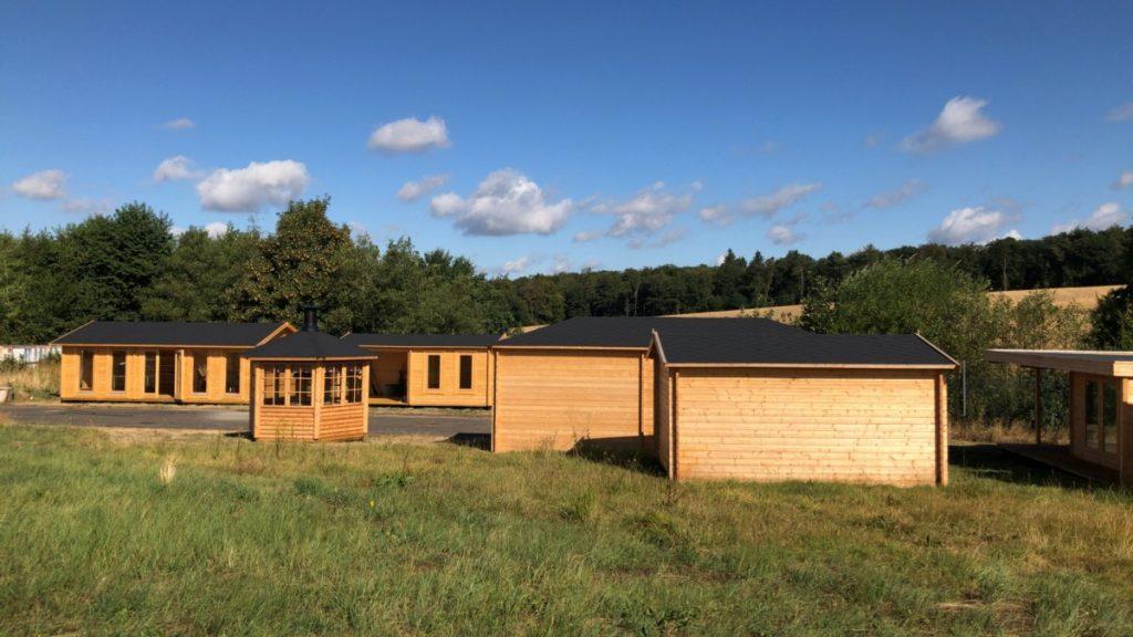 Offizielle Eröffnung unseres Ausstellungsgeländes (unsere Ausstellungsfläche) für Gartenhäuser in Pfalzfeld im September 2018-3