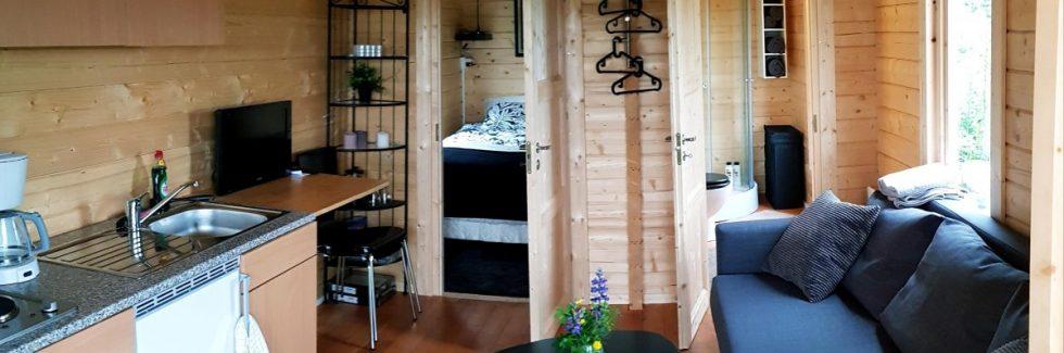 Ein Holzhaus für den Campingplatz oder als Ferienhaus zum Vermieten