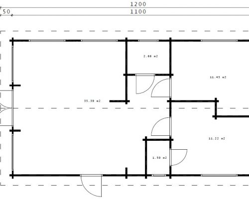 """Großes Holzhaus """"Valencia"""" mit zwei Schlafzimmern"""