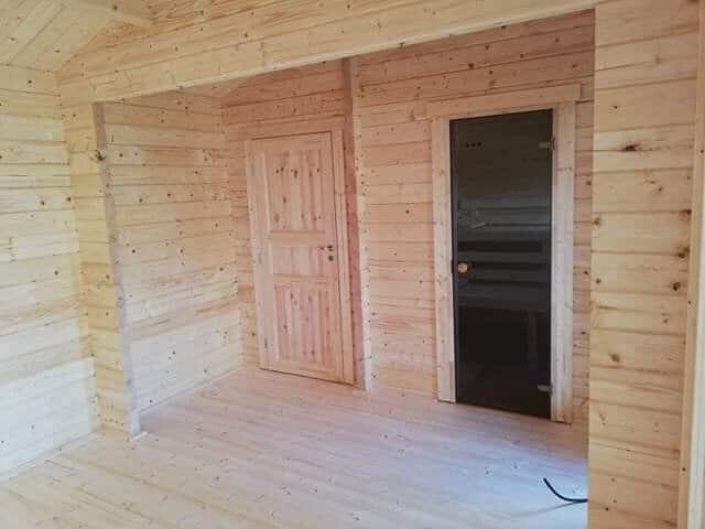 """Großes Gartenhaus mit Sauna """"Hansa B"""""""