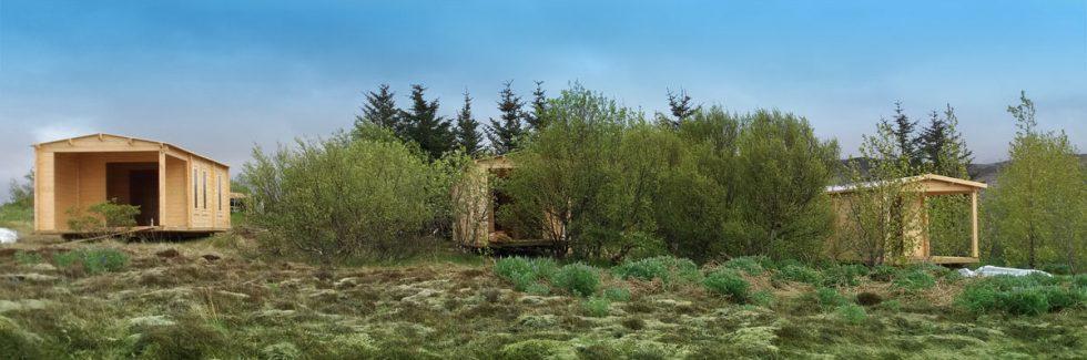 Bewohnbare Blockbohlenhäuser im Tourismus und privat