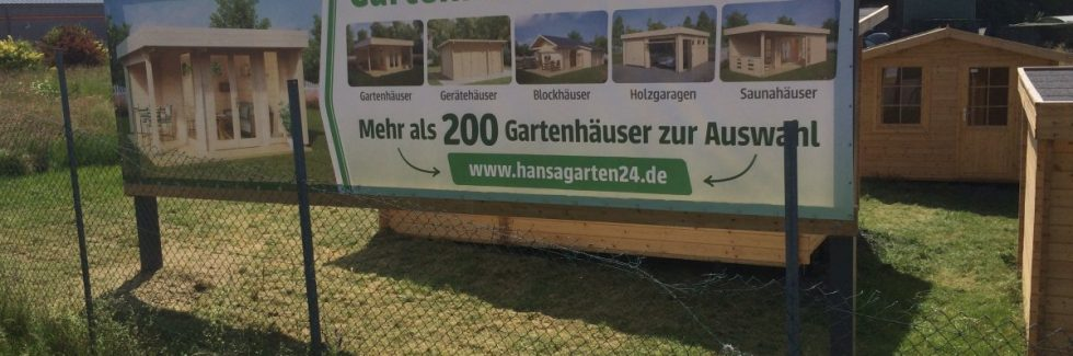 Hansagarten24 Gartenhaus-Ausstellung in Pfalzfeld, Rheinland-Pfalz