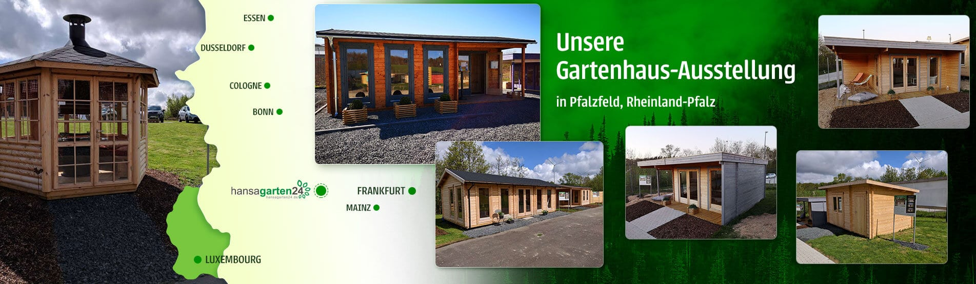 Hansagarten24 Gartenhaus-Ausstellung in Pfalzfeld