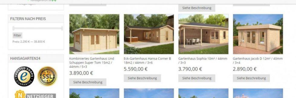 Eine Holzhütte kaufen leicht gemacht per online Bestellung