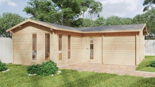 """Großes Gartenhaus mit Sauna """"Devon-3"""" / 40 m2 / 70mm"""