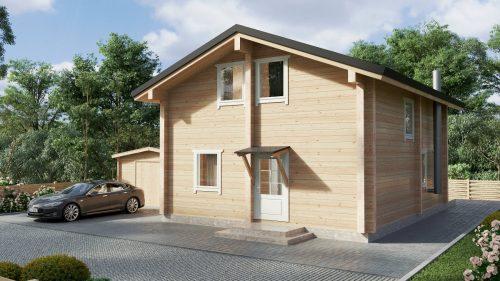 """Wohnblockhaus mit drei Schlafzimmern """"Hansa-122"""""""