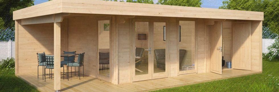 Ein Gartenhaus modern einrichten