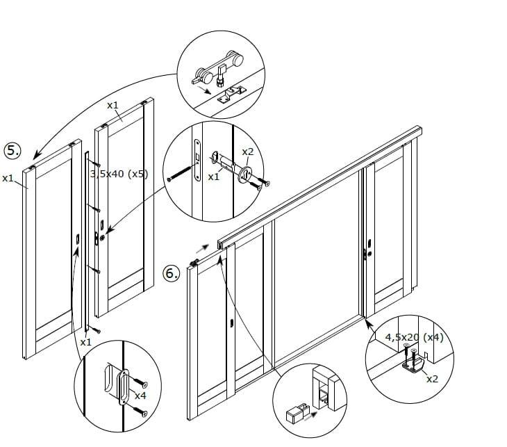 Montage-Anleitung für Schiebetüren 5