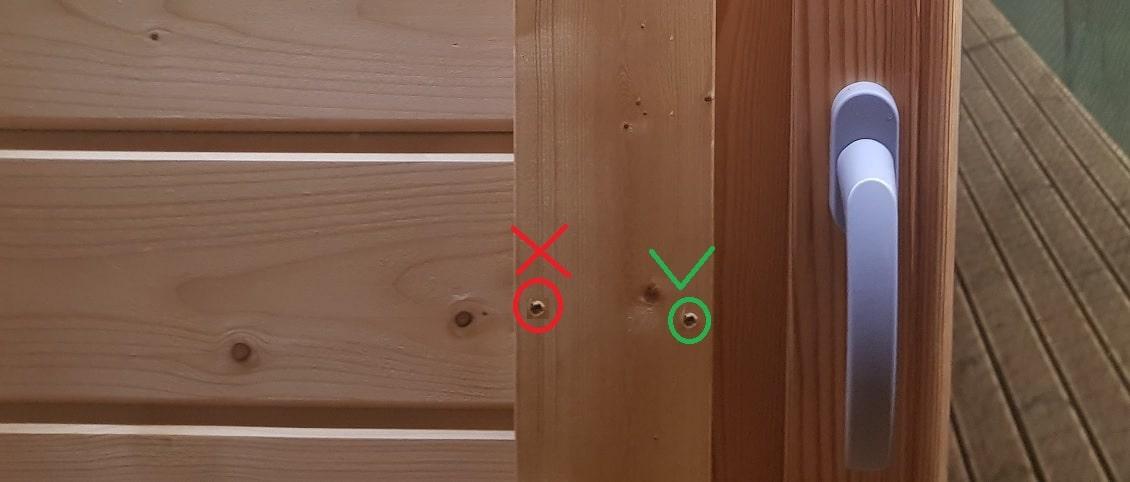 Montage von Fenster- und Türleisten