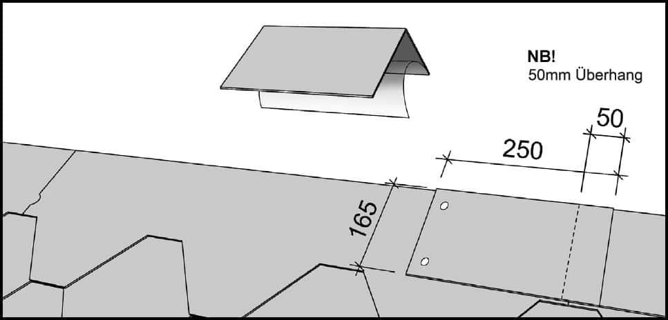 Dachfirstplatten
