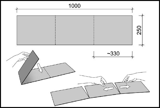 Installation der Dachfirstplatten (Plano Combi)