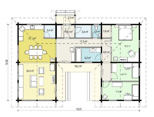 Tania-120 Gebäudeplan
