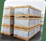 Die wetterfeste Verpackung schützt Ihre Kabine