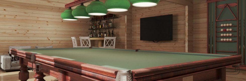 """Garten-Billardraum """"Snooker XL II"""" / 8x5,5 m / 43 m2 / 70 mm"""