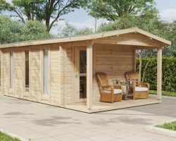 """Holzhaus mit Duschraum und WC """"Martin I"""""""
