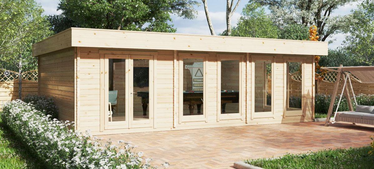 Moderne Gartenhäuser – Wohninseln im Garten