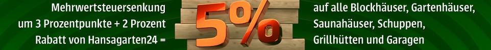 Mehrwertsteuersenkung Rabatt -5%