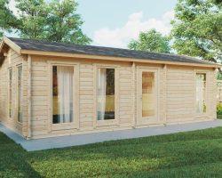 Ein Schlafzimmer Blockhaus-Ferienhaus Holiday M / 8x4 m / 30 m2 / 70 mm