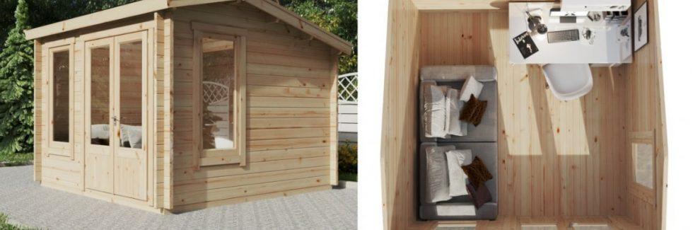 Verwandeln Sie Ihr Gartenhaus in ein stilvolles Home Office