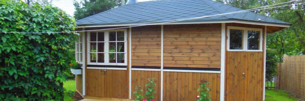Ein Gartenpavillon als Vielzweckgebäude