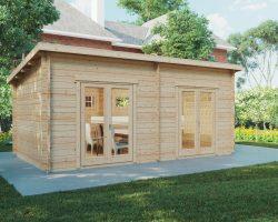 Liam (Blockhaus für die soziale Distanzierung) 16m2 / 6 x 3 m / 44 mm
