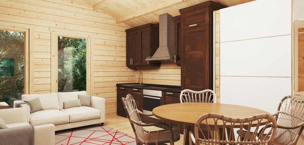 Ein Gartenhaus aus Holz – angenehmes Innenklima rund ums Jahr
