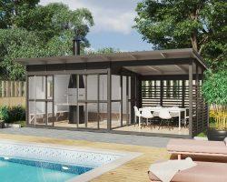 Gartenhaus mit Grill Elias XL