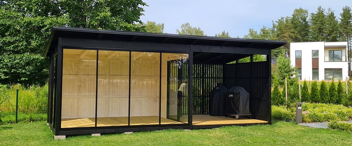 Der Holzpavillon in der Gartengestaltung
