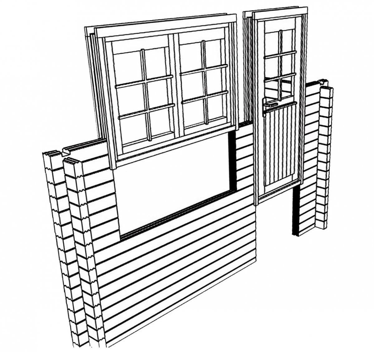 Gartenhaus Montage: Wände, Türen und Fenster