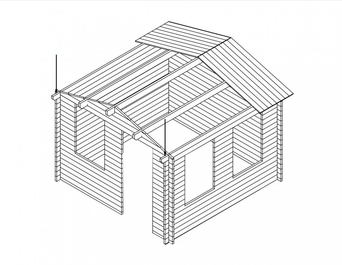 Gartenhaus montage - Vorbereitungen