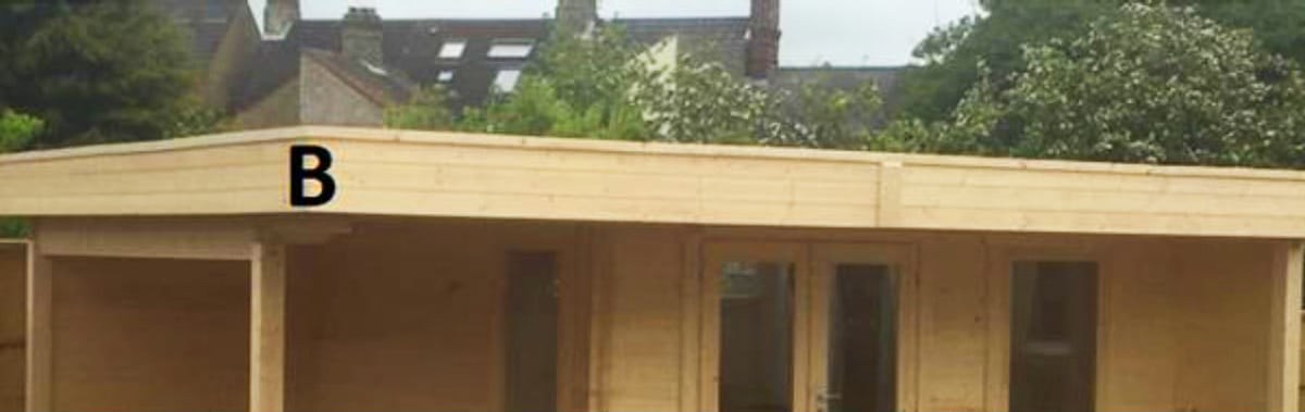 Pultdächer und Flachdächer mit Blende