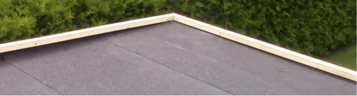 Flachdächern ohne Blende