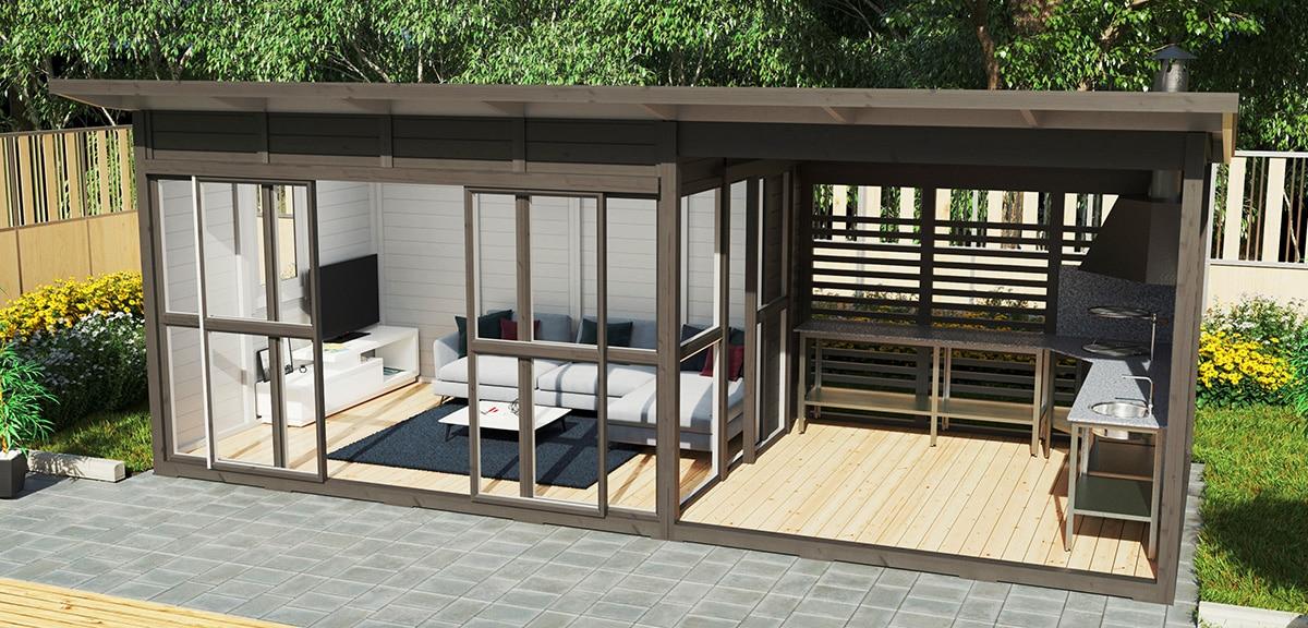 Luxus Gartenhaus oder: Ist ein Gartenhaus Luxus?