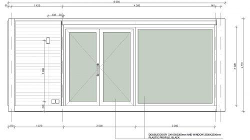 Container Haus Vorderseite