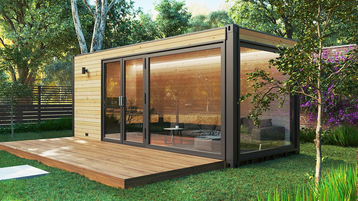 Umweltfreundliches Container Haus Popuphut 13 2m Hansagarten24