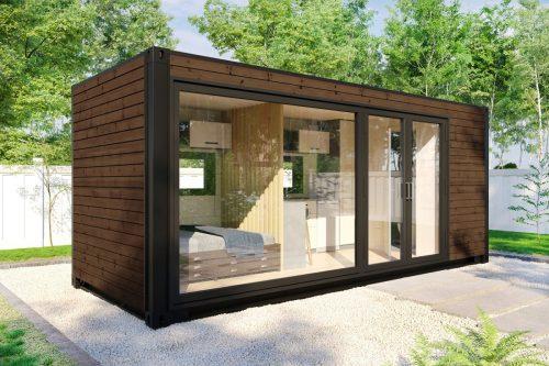 Tiny Container Haus V2 Braun