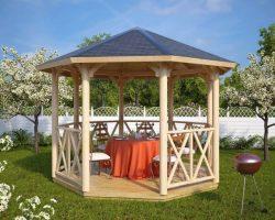 Achteckiger Gartenpavillon UK Lotte L