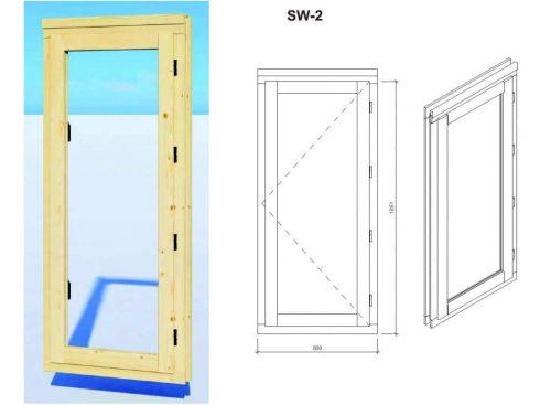 """Gartenhaus aus Holz """"Mini-Gartenbüro 1"""" DS Fenster"""