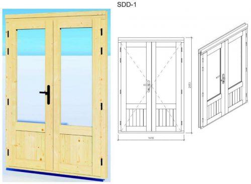 "Gartenhaus aus Holz ""Mini-Gartenbüro 1"" DS Tür"