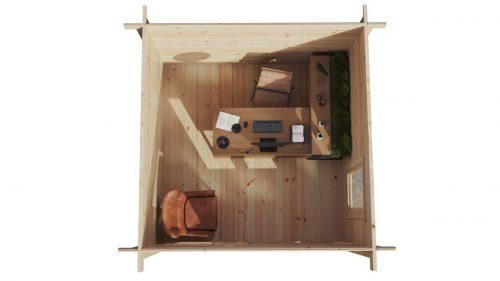Gartenhaus aus Holz Mini-Gartenbüro 2 Grundriss DS
