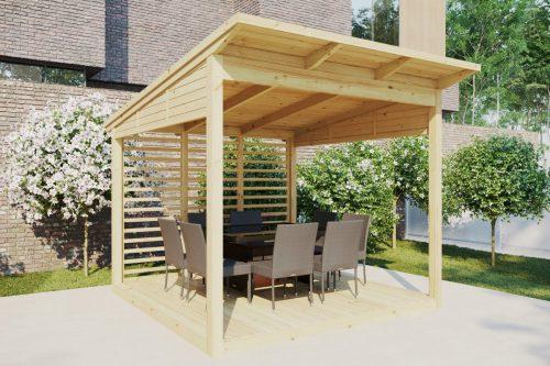 Holzgartenlaube A 3 x 3 m