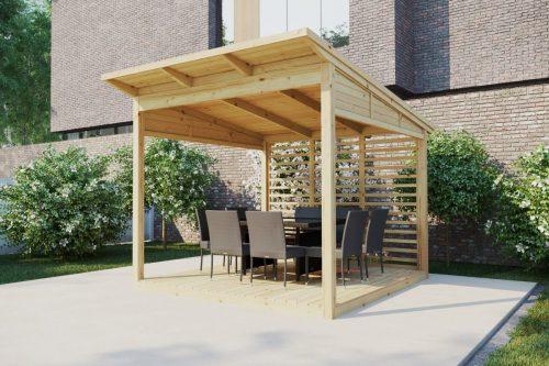 Holzgartenlaube A 3 x 3m