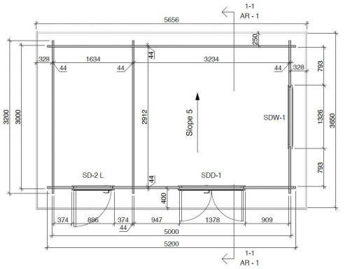 Kombiniertes Gartenhaus und Schuppen Super Tom DS grundriss