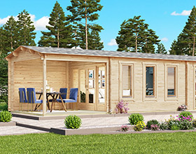 Gartenhäuser mit Terrasse oder Veranda