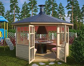 Grillpavillons und Grillhütten