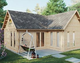 Große Gartenhäuser und Holzhäuser