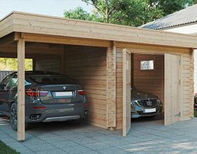 Holzgaragen und Carports