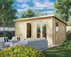 Gartenhaus aus Holz Ryan DS 14m2 5 x 3 m 44 mm